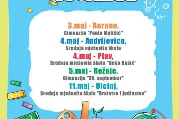 NAUKA U POKRETU  3-11. maj 2012 – Berane, Andrijevica, Plav, Rožaje, Ulcinj
