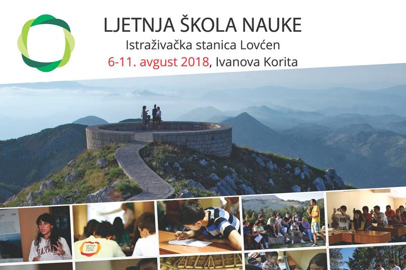 """Program XI Ljetnje škole nauke, Istraživačka stanica ,,Lovćen"""", 6-11. avgust 2018."""
